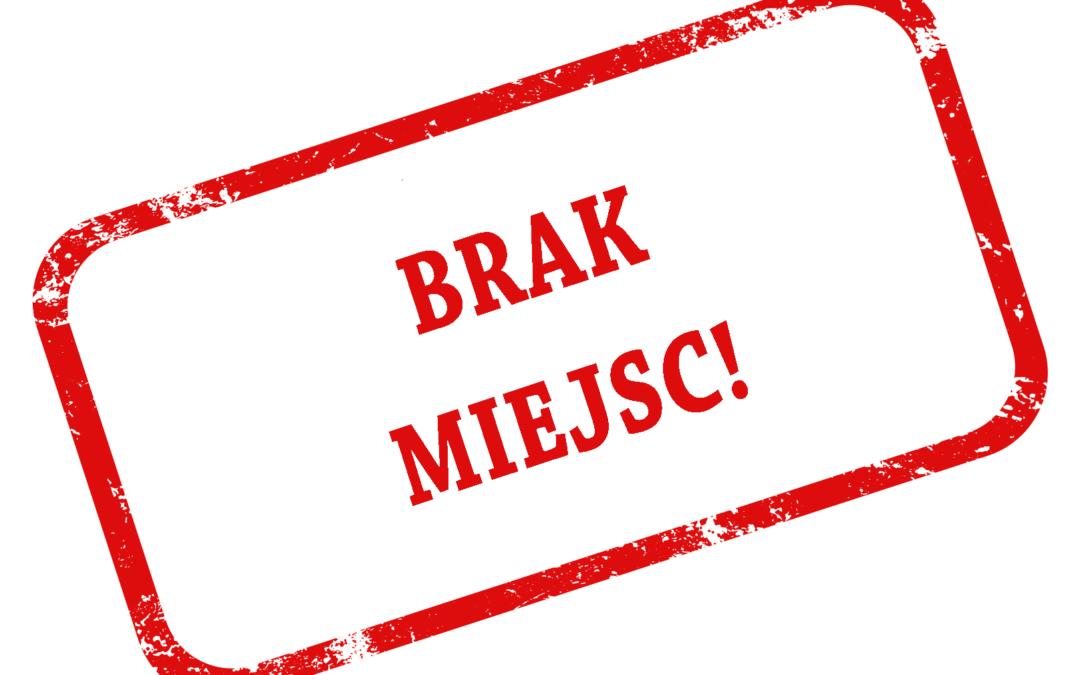 BRAK MIEJSC – PASYM 2020